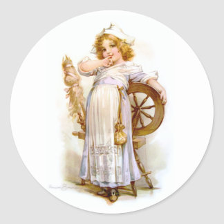 Brundage: Priscilla Classic Round Sticker