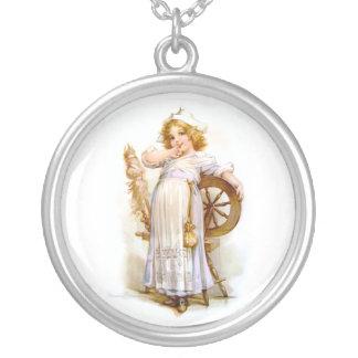 Brundage: Priscilla Round Pendant Necklace