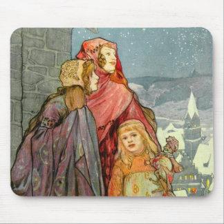 Brune Christmas Women Art German Colorful Vintage Mouse Pad