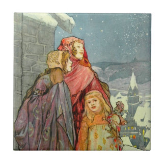 Brune Christmas Women Art German Colorful Vintage Ceramic Tile