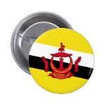 Brunei - bandera del Bruneian Pin Redondo 5 Cm