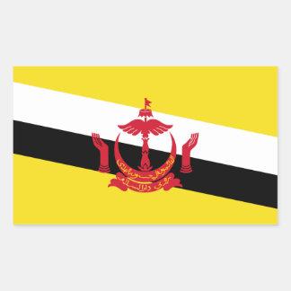 Brunei/Bruneian Flag Rectangular Sticker