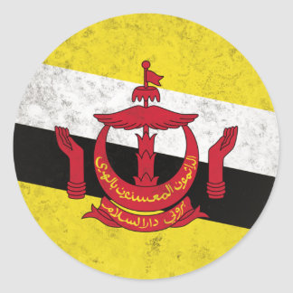 Brunei Classic Round Sticker