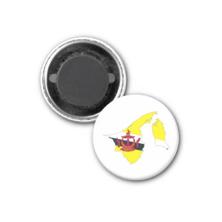 brunei country flag map shape silhouette symbol magnet