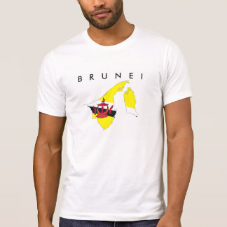 brunei country flag map shape silhouette symbol T-Shirt