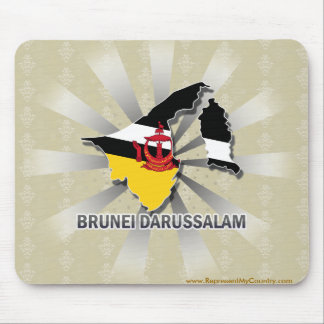 Brunei Darussalam Flag Map 2.0 Mouse Pad