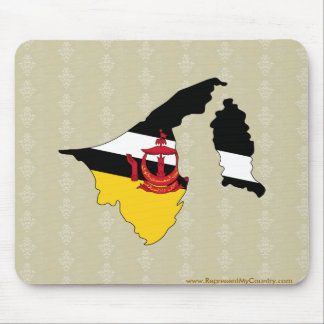Brunei Darussalam Flag Map full size Mouse Pad
