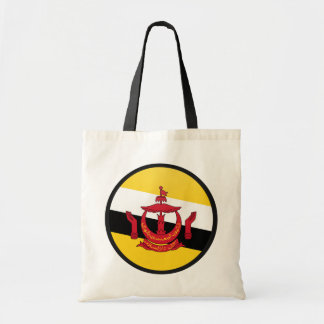 Brunei Darussalam quality Flag Circle Budget Tote Bag