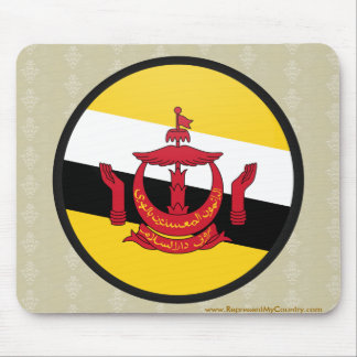 Brunei Darussalam quality Flag Circle Mouse Pad