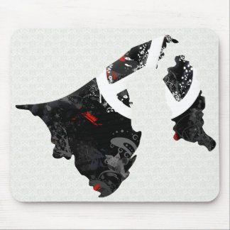 Brunei Darussalam Trendy Peace Sign with Bruneian Mouse Pad