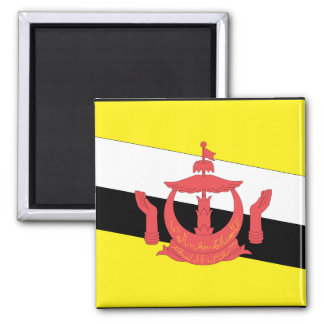 Brunei Flag 2 Inch Square Magnet