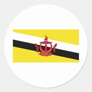 Brunei Flag Classic Round Sticker