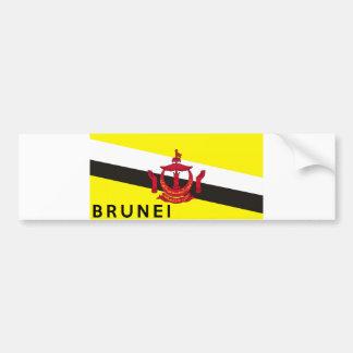 brunei flag country text name bumper sticker