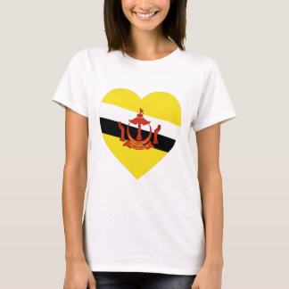 Brunei Flag Heart T-Shirt