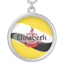 Brunei Flag   Name Necklace