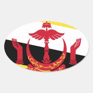 Brunei Flag Oval Sticker