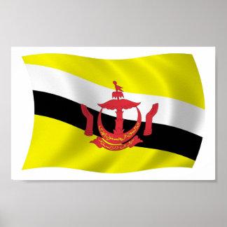Brunei Flag Poster Print
