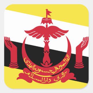 Brunei Flag Square Sticker