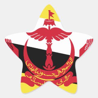 Brunei Flag Star Sticker
