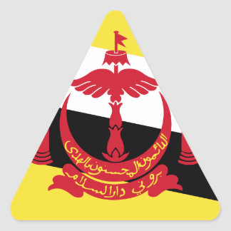 Brunei Flag Triangle Sticker