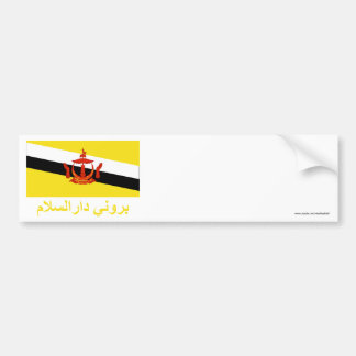 Brunei Flag with Name in Jawi Bumper Sticker