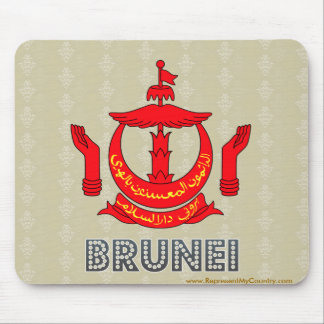 Brunei High Quality Coat of Arms Mouse Pad