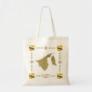 Brunei Map + Flags Bag