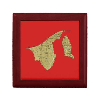 Brunei Map Gift Box