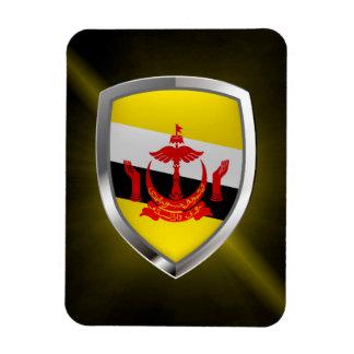 Brunei Metallic Emblem Magnet