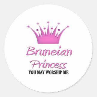 Bruneian Princess Classic Round Sticker
