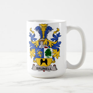 Brunell Family Crest Coffee Mug