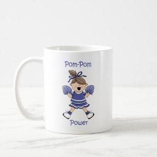 Brunet del poder del Pom-Pom Taza
