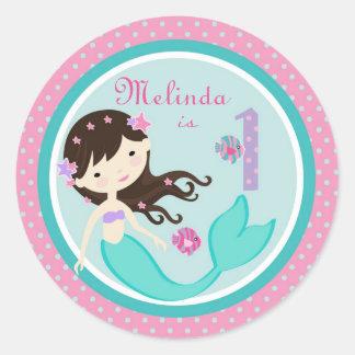 Brunette 1B del pegatina de little mermaid