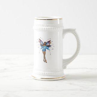 Brunette 3D Pixie - Purple & Blue Mug