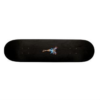 Brunette 3D Pixie - Purple & Blue Custom Skateboard