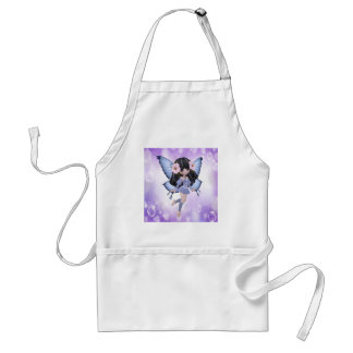Brunette and Purple Fairy Adult Apron