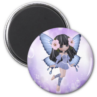 Brunette and Purple Fairy Magnet