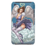 Brunette Angel Pinup with Heart Halo by Al Rio Barely There iPod Cases