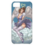 Brunette Angel Pinup with Heart Halo by Al Rio iPhone 5C Cases