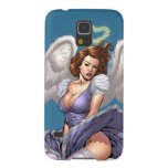 Brunette Angel Pinup With Heart Halo By Al Rio Galaxy S5 Cover