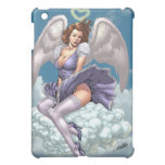 Brunette Angel Pinup with Heart Halo by Al Rio iPad Mini Cases