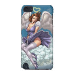 Brunette Angel Pinup with Heart Halo by Al Rio iPod Touch (5th Generation) Case