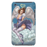 Brunette Angel Pinup with Heart Halo by Al Rio iPod Touch Case-Mate Case