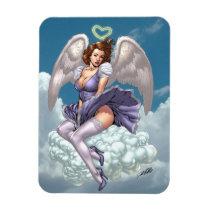 brunette,angel,angels,wings,halo,heart,purple,dress,cloud,al rio,art,comics, [[missing key: type_fuji_fleximagne]] com design gráfico personalizado