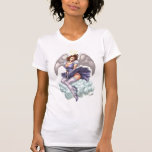 Brunette Angel Pinup with Heart Halo by Al Rio T-Shirt