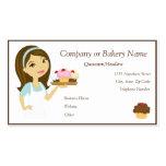 Brunette/Aqua Cupcake Baker/Bakery 4 Business Card