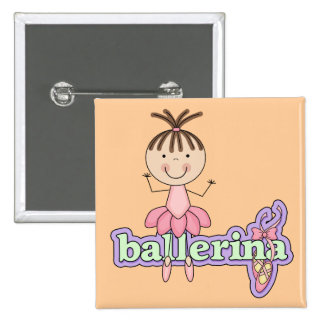 Brunette Ballerina - Pink Tshirts and Gifts Buttons