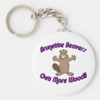 Brunette Beavers Get More Wood Keychain
