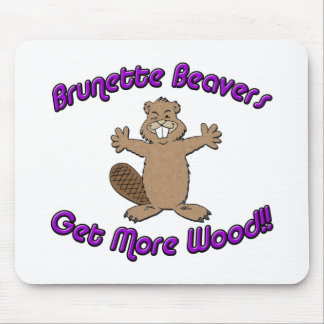 Brunette Beavers Get More Wood Mouse Pad