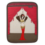 Brunette Bellydancer in Red and Gold Costume Sleeve For iPads